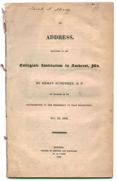 An Address, Delivered at the Collegiate Institution in
